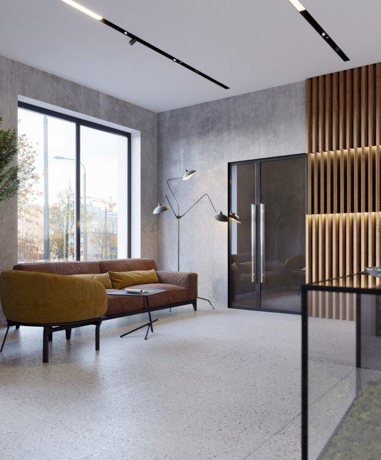Interior design of aparthotel
