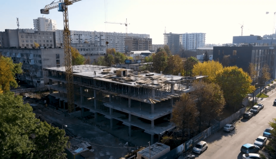 Відеозвіт з будівництва Kristal Plaza (жовтень)